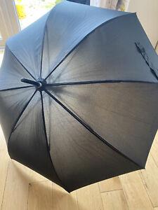 Hugo Boss Illusion Stick Umbrella, Black