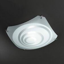 Honsel Plafoniera 2 flg cromato vetro satinato con Decorazione 20712