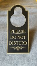 Please Do Not Disturb Door Knob Hanger - Home or Office Signs- Privacy Signs