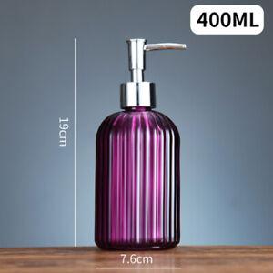 Glass Refillable Empty Bathroom Liquid Soap Dispenser Bottles with Hand Pump