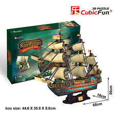 Spanish Armada San Felipe 1690 3D Puzzle Jigsaw Model 248 Pcs 68x18x56cm T4017h