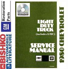 1980 Chevrolet GMC Truck Shop Service Repair Manual CD Engine Drivetrain Wiring
