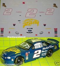 NASCAR DECAL # 2 MILLER TIME MACHINE 1998 FORD TAURUS  RUSTY WALLACE