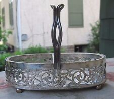 Homan Silver Plate Basket w/2 Crystal Inserts.Early 20 Century. Nice!