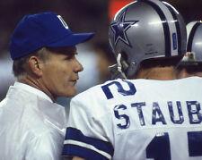 Dallas Cowboys TOM LANDRY & ROGER STAUBACH Glossy 8x10 Photo Print NFL Poster