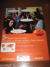 *AL46=ING DIRECT CONTO ARANCIO=PUBBLICITA'=ADVERTISING=WERBUNG=COUPURE=