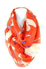 B54 Red Blue White Dragonfly Long Infinity Scarf Boutique