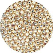Metallic-Perle goldfarben 3 mm - 2,5 g