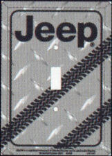 Jeep truck 4x4 light switch plate cover diamond plate kitche bedroom shop garage