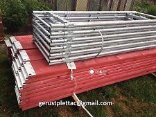 Typ Plettacgerüst Gerüstbau Gerüst Stahlramen Plettac Stahlböden NEU 108qm NEU