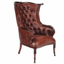 NLR055L, Niagara Furniture, Leather Fireside Chair, Mahogany Chair