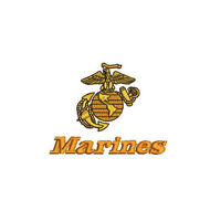 USMC MARINES EMBROIDERED POLO SHIRT US Marine Corps Army Military  Embroidery