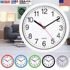 8 Inch Round Wall Clock Silent Quartz Non-ticking Battery Home Hanging Modern