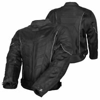 Mens Biker Motorcycle Jacket Full Zip Mesh Textile Motorbike CE Armour