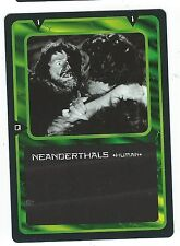 Doctor Who Black Border CCG Card Neanderthals Green Background Human Card Good