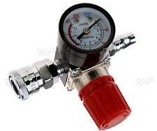 "Air Compressor 1/4"" Pressure Regulator Gauge 180PSI Regulating Control Valve"