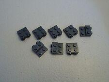 LEGO NEW Black Plate Modified 2x2x2/3 Studs on Side Lot x8 Star Wars Brick 99206