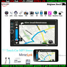 7'' 2 DIN Écran Tactile Autoradio USB/TF/AUX/FM/à Distance Bluetooth Stéréo MP5