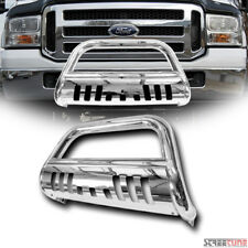 Stainless Chrome Bull Bar Push Bumper Grill Grille Guard 05-07 Ford F250/F350 SD