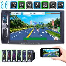 6.6''HD Double 2DIN Car Stereo Bluetooth Touchscreen MP3 MP5 Player FM Radio VIP