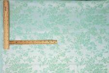 Fabric Faux Silk Taffeta Flocked Velvet Damask Mint Green Home Decor Drapery NOS