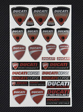 DUCATI CORSE premium decal set 6x10 in. sheet 20 stickers metallic laminated