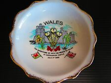 """WALES SOUVENIR DISH """"THE INVESTITURE OF H.R.H.THE PRINCE OF WALES"""""""