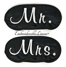 Mr And Mrs Sleep Mask Set With Free Gift Box! Makes A Great Wedding Gift!