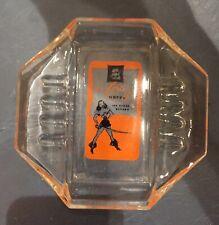 Vintage Las Vegas 'El Cortez Hotel' Glass Ashtray—Pirate Woman Design—As Is