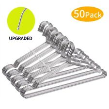 Wire Hangers, Clothes Hangers 50 Pack Stainless Steel Metal FSUTEG FREE SHIPPING