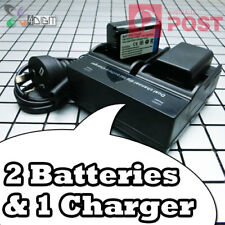 NP-FW50 Battery + Dual Charger for SONY Alpha a6000 a6300 a6500 a7 a7R a7S II