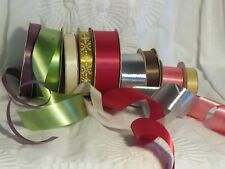 Vintage 3M Sasheen and Other Ribbon Lot of 9 Rolls