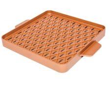 """Copper Chef Copper Barbecue Grill Pan Griddle 12"""" Square X Design Non Stick Pan"""