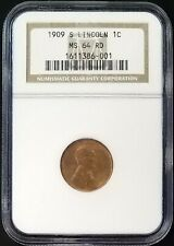 1909 S Lincoln Cent certified MS 64 RD by NGC!