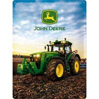 John Deere Traktor 8370 R Nostalgie Blechschild 40 cm NEU  shield