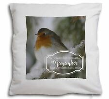 Little Robin Red Breast Soft Velvet Feel Cushion Cover With Inner P, Robin-1-CPW