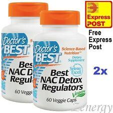 2x DOCTORS BEST, NAC DETOX, 2x 60 VCaps ~ N-Acetylcysteine (N-A-C) w/Selenium