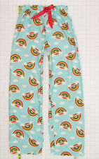Paul Frank Rainbow Monkey PJs Pajamas Bottoms sz Large Girls Blue Pants C1060