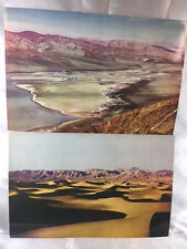 """LOT OF TWO 1958 UNUSED 9""""X6"""" COLOR POSTCARDS DEATH VALLEY, CA"""