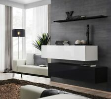 Shift SB II - black and white entertainment center cabinet / modern wall unt
