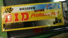 ES13 DID Professional Motorcycle Chain DID520VM 120ZBL ESTATE SALE FIND