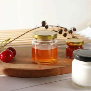 30pc 30ML Glass Mini Jam jars Airtight Preserve Honey Bottles Jar Pot With Lids