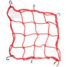 Red 1x Bungee Cargo Net Motorcycle Cord Helmet Storage Mesh Adjustable