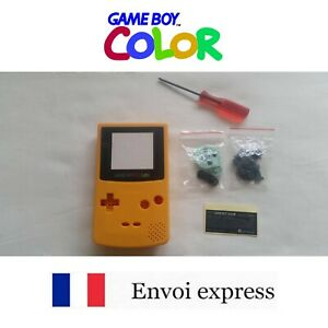 Coque GAME BOY COLOR Jaune Yellow NEUF NEW + tournevis triwing - shell case