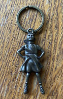 Fearless Girl NYC Statue Keychain & Travel Memorabilia Collectible Pewter