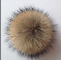Huge Faux Raccoon Fake Fur For HandBag Pendant Charm Ball Pearl Pompom Keychain