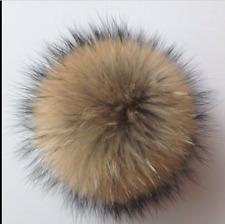 Faux Raccoon Fake Fur Hair Huge Fur Ball Pompoms Mobile Strap Keychain Bag Purse