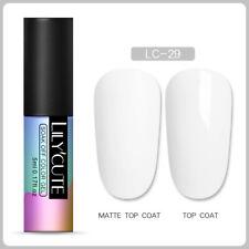 LILYCUTE Nail UV Gel Polish Matte Soak Off Top Base Coat Nail Art Varnish Tips