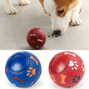 Rubber IQ Treat Ball Interactive Dog Toy Food Dispensing Feeder For S/M/L dog