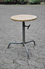 Vintage Stool with Leatherette Cover Work Chair Bauhaus Age